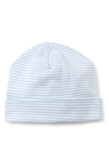 Infant Kissy Kissy Simple Stripes Beanie Hat - Blue