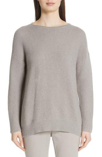 Fabiana Filippi Merino Wool, Silk & Cashmere Blend Sweater, 8 IT - Grey