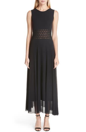 Fuzzi Cutout Waist Maxi Dress, Black