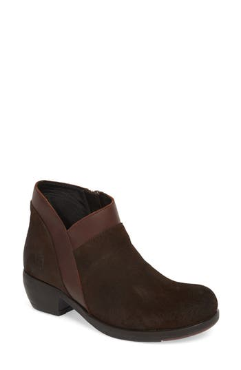 Fly London Meba Mixed Media Bootie - Brown