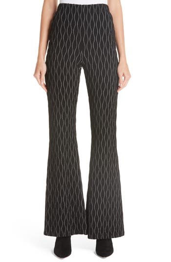 Beaufille Oval Knit Flared Pants, Black