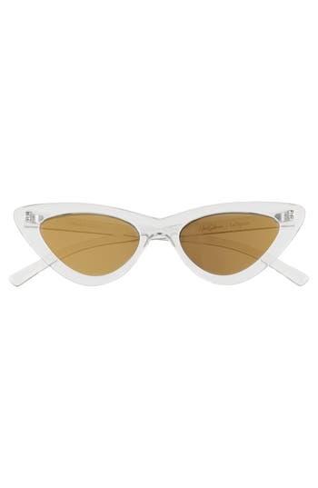 Le Specs X Adam Selman Last Lolita 4m Cat Eye Sunglasses - Crystal Grey