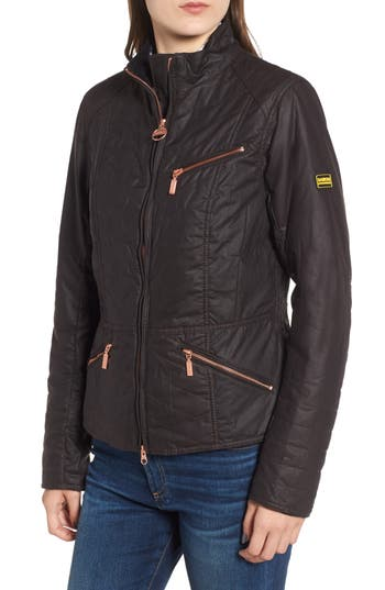 Barbour Backmarker Water Resistant Waxed Cotton Jacket, US / 8 UK - Red