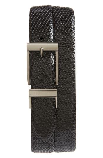 Ted Baker London Tatti Reversible Leather Belt, Black
