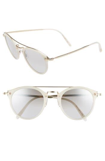 Oliver Peoples Remick 50Mm Brow Bar Sunglasses - Ecru/ Gold