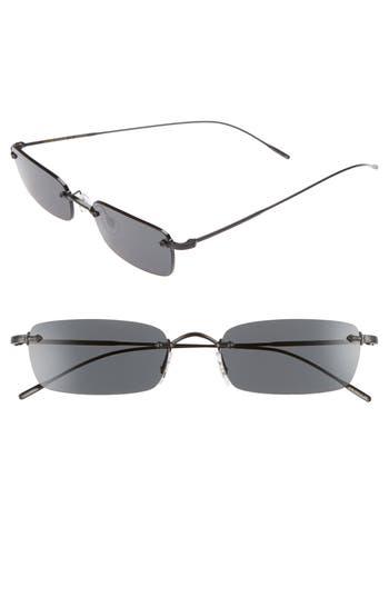 Oliver Peoples Daveigh 5m Rectangular Sunglasses - Matte Black