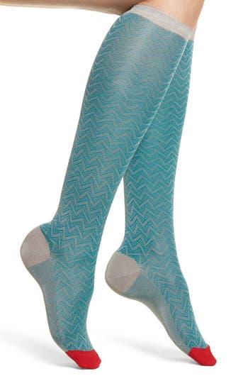 Alma Knee Socks, Light Pastel Blue
