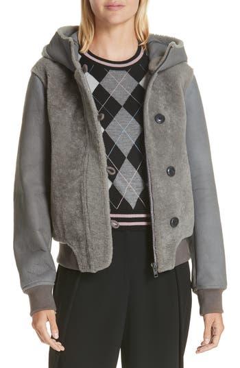 Rag & Bone Meesha Genuine Shearling Jacket, Grey