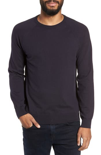 French Connection Regular Fit Stretch Cotton Crewneck Sweater, Blue