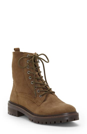 Lucky Brand Idara Lace-Up Bootie, Green