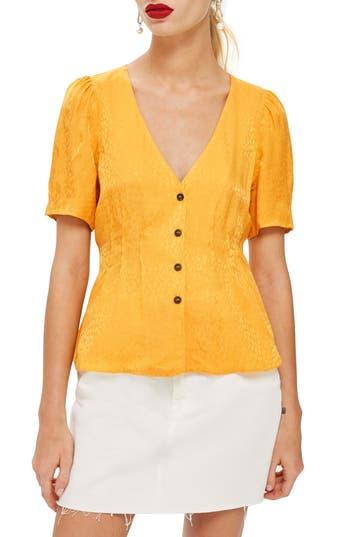 1930s Style Blouses, Shirts, Tops | Vintage Blouses Womens Topshop Animal Jacquard Blouse $65.00 AT vintagedancer.com