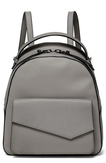 Cobble Hill Calfskin Leather Backpack - Grey, Gray