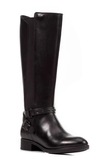 Geox Felicity Abx Waterproof Knee High Riding Boot, Black