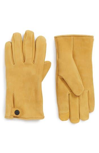 Ugg Leather Gloves, Brown