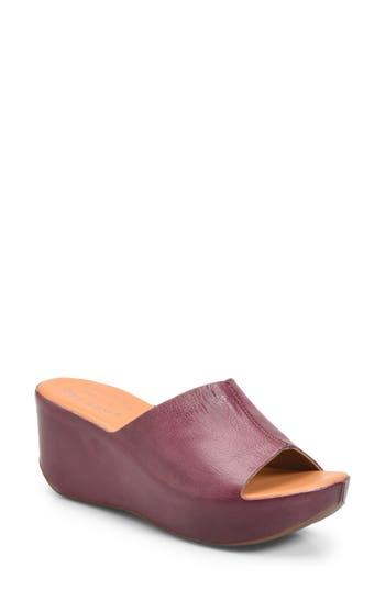 Kork-Ease Greer Wedge Slide Sandal, Burgundy