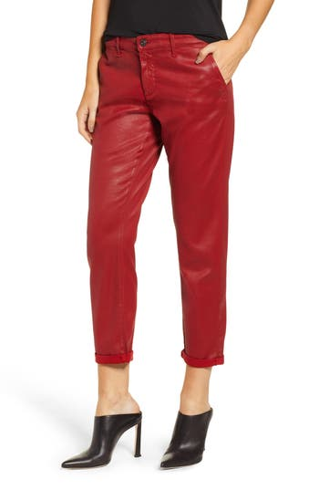 Ag CADEN CROP FAUX LEATHER TROUSERS