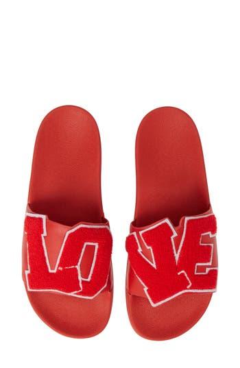 Love Slide Sandal, Red
