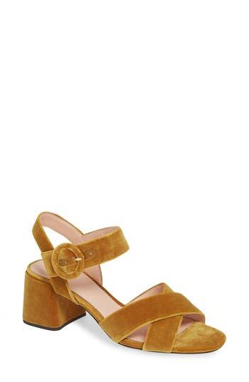 J.crew Penny Cross Strap Sandal, Yellow