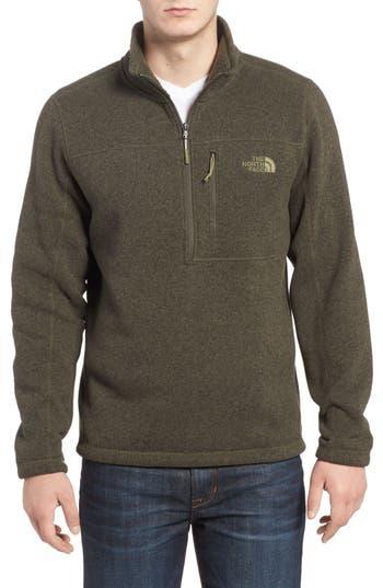 The North Face Gordon Lyons Quarter-Zip Fleece Jacket, Green