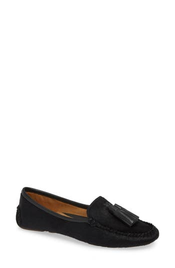 Ricky Genuine Calf Hair Loafer, Black Calf Hair