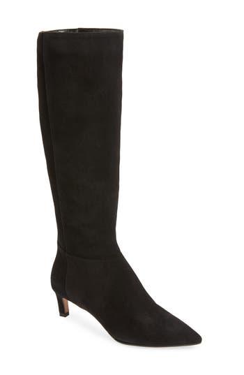 Aquatalia Macey Weatherproof Kitten Heel Boot- Black