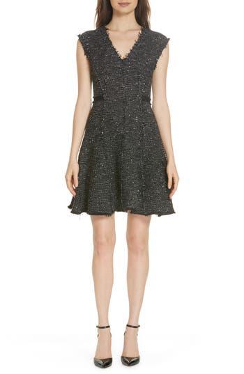 Rebecca Taylor Sparkle Stretch Dress, Black