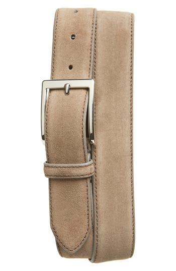 To Boot New York Suede Belt, Taupe