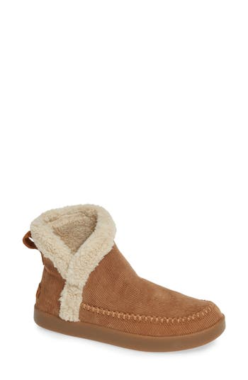 Sanuk Faux Shearling Bootie, Brown