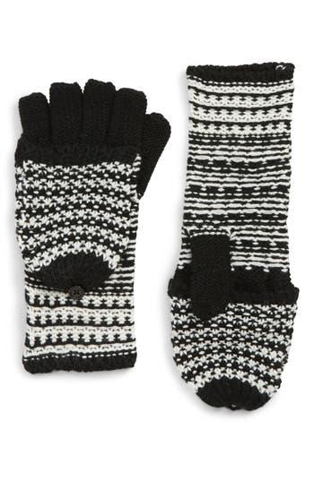 Rebecca Minkoff Pop Top Mittens, Size One Size - Black