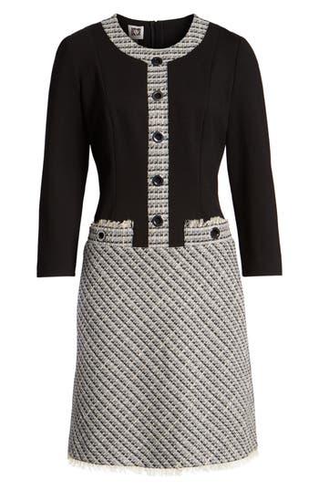 1960s Dresses | 60s Dresses Mod, Mini, Jakie O, Hippie Womens Anne Klein A-Line Knit  Tweed Dress $149.00 AT vintagedancer.com
