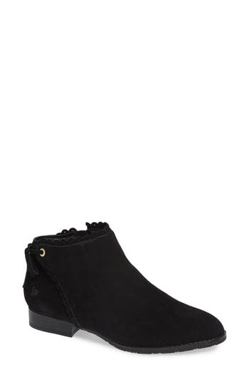 Jack Rogers Scalloped Ankle Bootie, Black