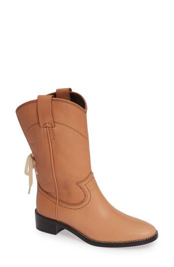 See By Chloe Annika Split Shaft Western Boot, Beige