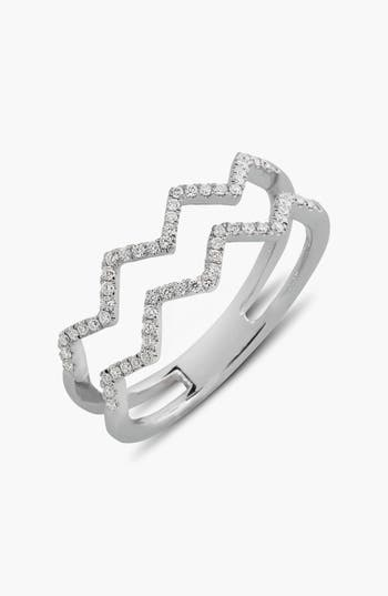 Women's Bony Levy 'Prism' 2-Row Diamond Ring (Limited Edition) (Nordstrom Exclusive)