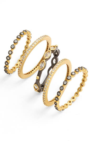 Women's Freida Rothman Delicate Stackable Rings (Set Of 5)