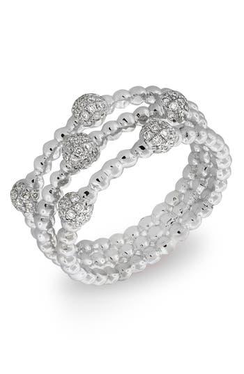 Women's Bony Levy Pave Ball Bead Three-Row Diamond Ring (Nordstrom Exclusive)