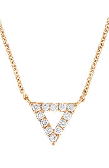 Women's Bony Levy Diamond Pavé Triangle Pendant Necklace (Nordstrom Exclusive)