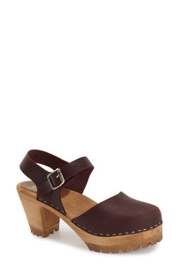 Women's Mia Abba Sandal, Size 8 M - Burgundy