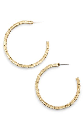 Women's Karine Sultan 'Brick' Open Hoop Earrings
