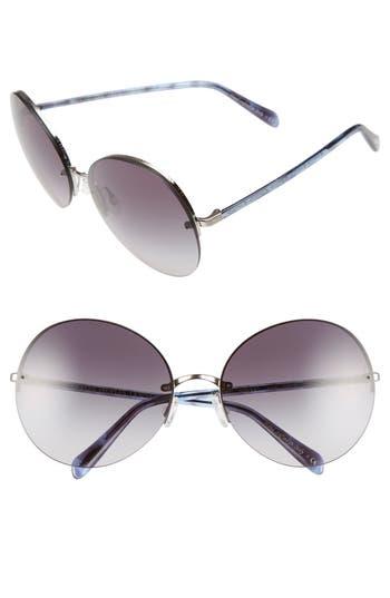 Women's Oliver Peoples Jorie 62Mm Semi Rimless Sunglasses - Metallic Silver