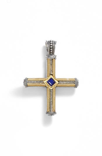 Women's Konstantino 'Orpheus' Semiprecious Stone Cross Pendant