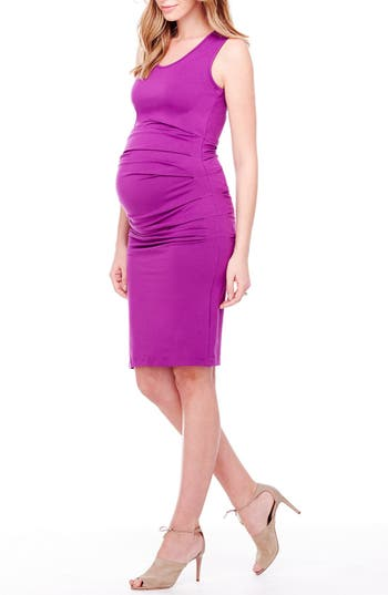 Women's Ingrid & Isabel Ruched Maternity Tank Dress, Size X-Small - Purple