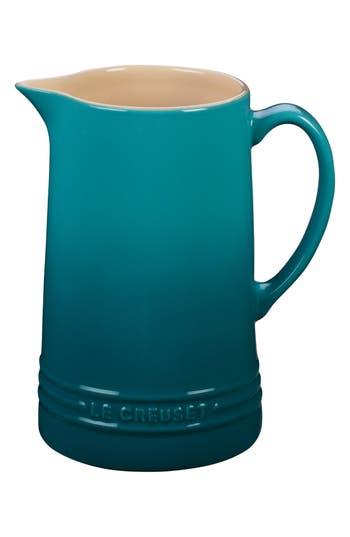 Le Creuset Glazed Stoneware 1 2/3 Quart Pitcher, Size One Size - Blue/green