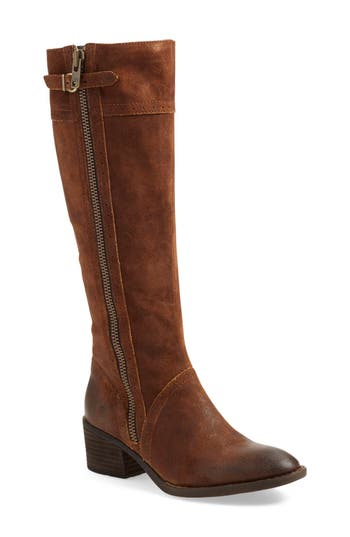Women's B?rn Poly Riding Boot, Size 7.5 Wide Calf M - Brown