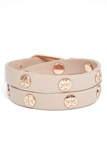 Women's Tory Burch Double Wrap Logo Bracelet