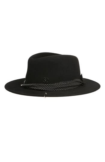 Women's Maison Michel Thadee Fur Felt Hat - Black