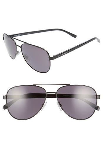 Men's Boss '0761/s' 60Mm Polarized Aviator Sunglasses -