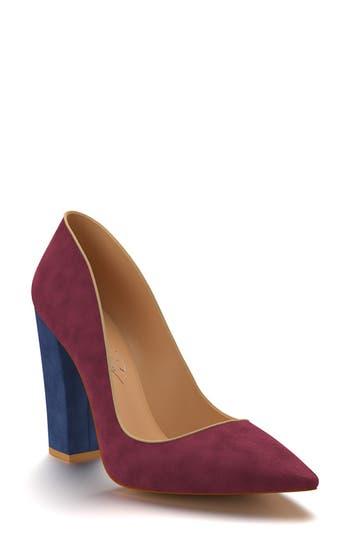 Women's Shoes Of Prey Block Heel Pump, Size 5 B - Burgundy