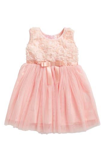 Infant Girl's Popatu Empire Waist Rosette Dress