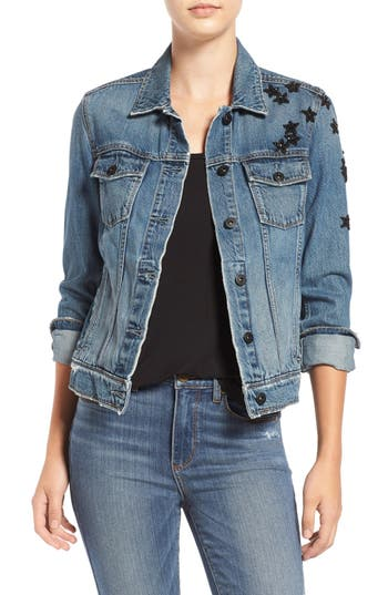 Women's Paige Rowan Sequin Patch Denim Jacket