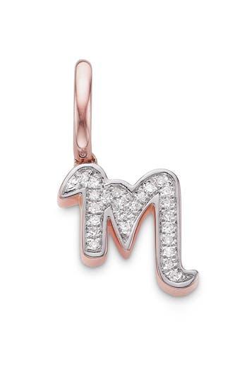 Women's Monica Vinader Diamond Initial Pendant